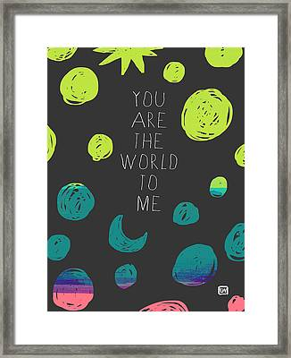 Framed Print featuring the painting You Are The World by Lisa Weedn