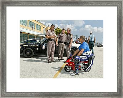 You Are Under Arrest !! Framed Print