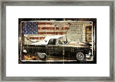 You Can Drive Vintage T-bird Framed Print by Mindy Sommers