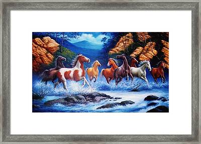 You Can Lead A Horse To Water But If You Can Get Him To Float On His Back  Framed Print by Yuki Othsuka