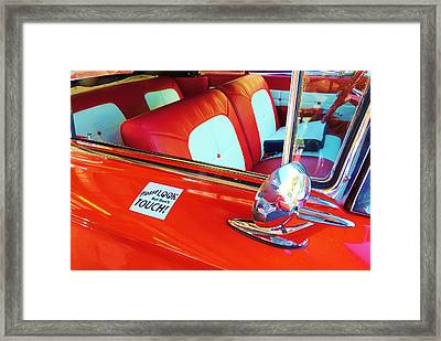 You Can Look But You Better Not Touch Framed Print