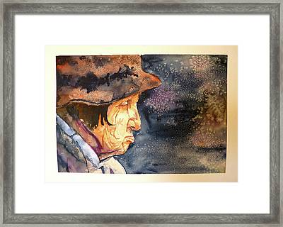 Framed Print featuring the painting You Can't Make Me by P Maure Bausch