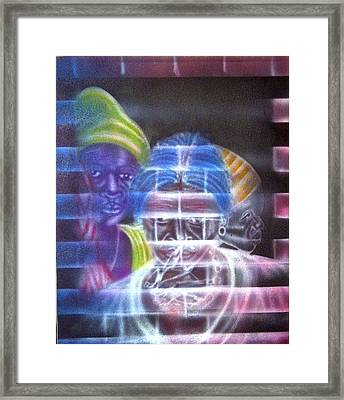 You Can't See Framed Print by Neg Ayiti