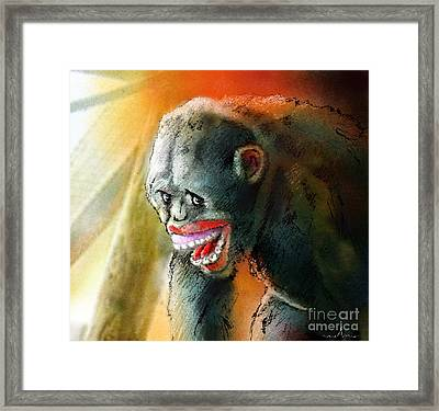 You Crack Me Up Framed Print by Miki De Goodaboom
