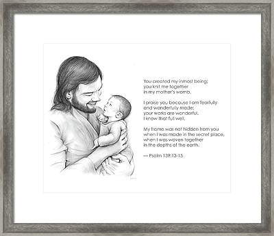 You Created Framed Print