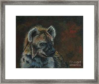 You Don't See Me Laughing......hyena Framed Print