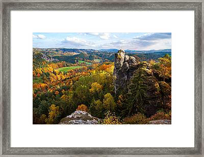 You Give Me The Wings. Saxon Switzerland Framed Print