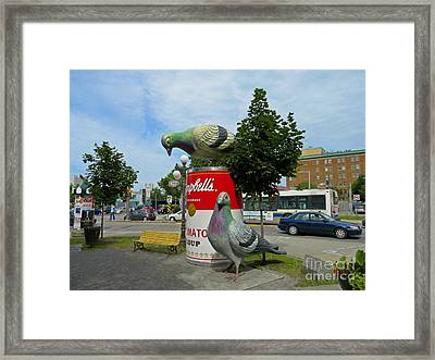 You Got A Can Opener Framed Print by John Malone