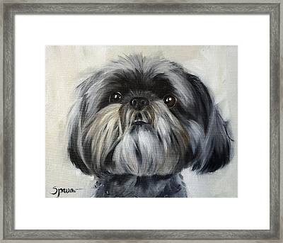 You Got My Attention Framed Print by Mary Sparrow