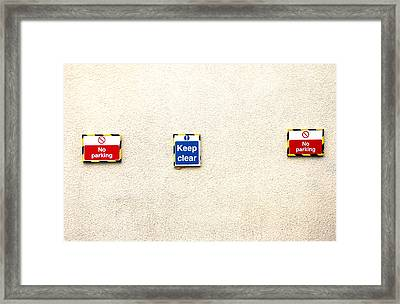 You Have Been Told Framed Print by Jez C Self