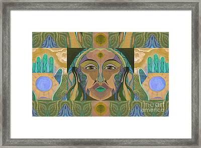 You Have The Power - Earth Element Framed Print by Helena Tiainen