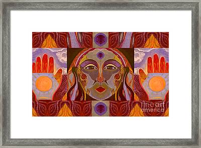 You Have The Power - Fire Element Framed Print by Helena Tiainen