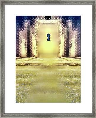 You Hold The Key Framed Print by Another Dimension Art