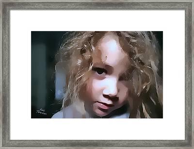 You Hurt Me Again Framed Print by Kathy Tarochione