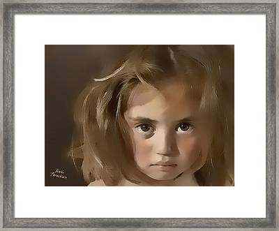 Framed Print featuring the digital art You Hurt Me by Kathy Tarochione