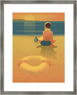 You Know One Loves The Sunset When One Is So Sad Framed Print by Adam Gaba