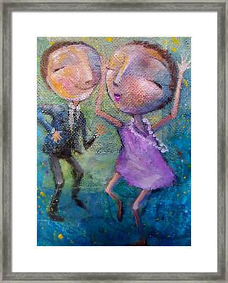 Framed Print featuring the painting You Make Me Wanna Dance by Eleatta Diver