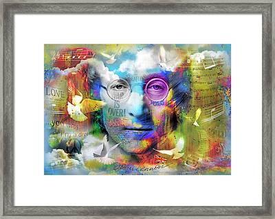 You May Say I'm A Dreamer Framed Print