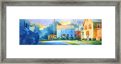 You Must Go Left Or Right Framed Print by Virgil Carter