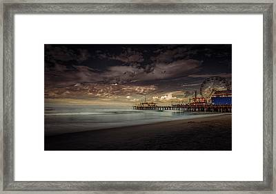 Enchanted Pier Framed Print