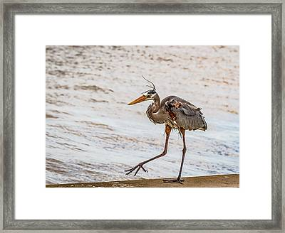 You Put Your Right Foot Out Framed Print by Jean Noren