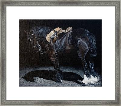 You Ready Yet. Framed Print by Pauline Sharp