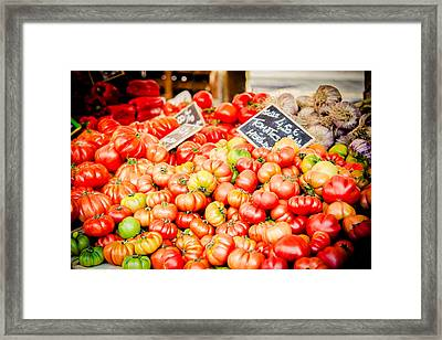 Framed Print featuring the photograph You Say Tomato by Jason Smith
