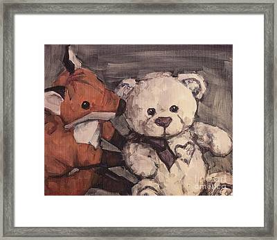Framed Print featuring the painting You Should Not Trust Her by Olimpia - Hinamatsuri Barbu