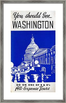 You Should See Washington Framed Print
