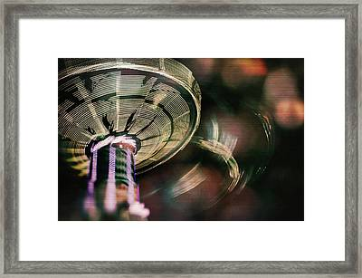 You Spin Me Right Round Framed Print by Nicole Frischlich
