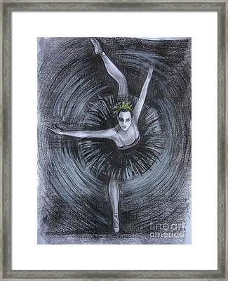 Framed Print featuring the drawing You Think You Can Dance by Anna  Duyunova