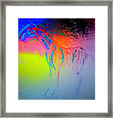 You Turn Your Sin Into My Shame  Framed Print by Hilde Widerberg