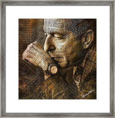 You Want It Darker Framed Print by Mal Bray