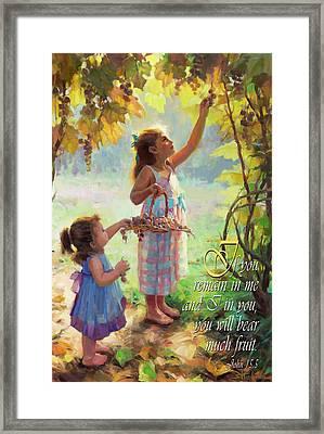 You Will Bear Much Fruit Framed Print