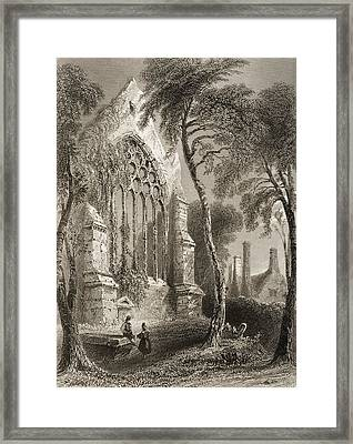 Youghall Abbey, County Cork, Ireland Framed Print by Vintage Design Pics