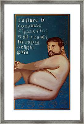 You'll Get Fat Framed Print by Matthew Lake