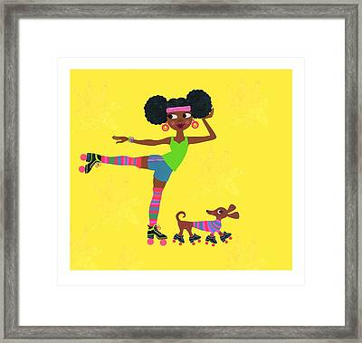 Young African American Woman Framed Print