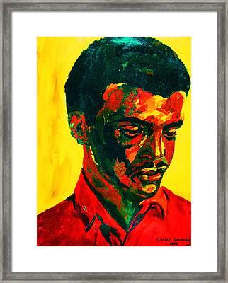 Young African Man Framed Print by Carole Spandau