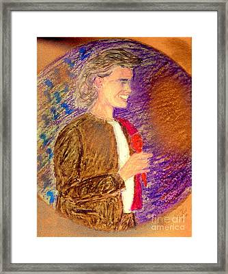 Young Andrea Bocelli Framed Print by Ricardo Richard W Linford