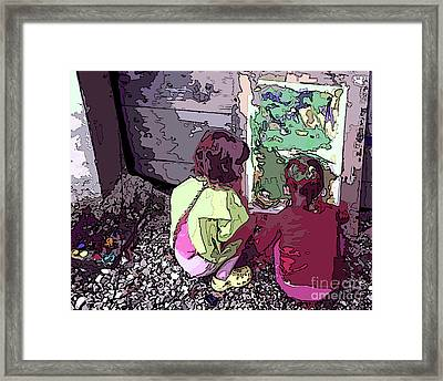 Young Artists Framed Print by Sandra Nortje