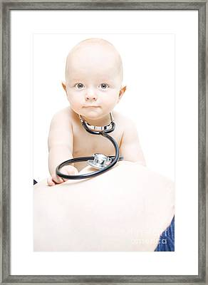 Young Baby Paediatrician Framed Print