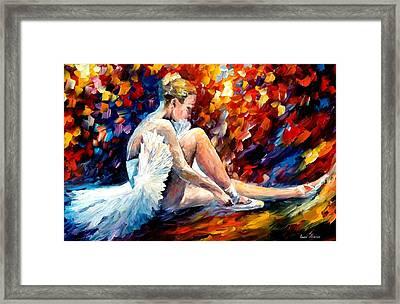 Young Ballerina Framed Print by Leonid Afremov