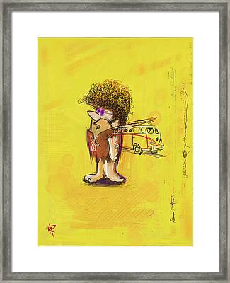 Young Barney Framed Print