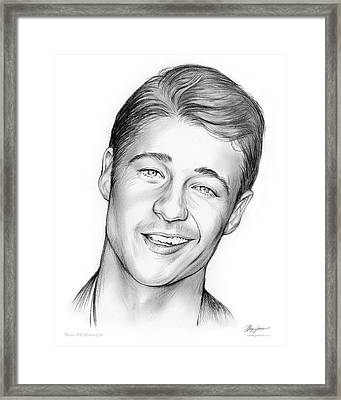 Young Ben Mckenzie Framed Print by Greg Joens