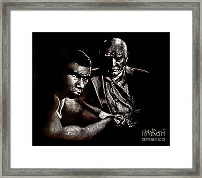 Young Boxer And Soon To Be World Champion Mike Tyson And Trainer Cus Damato Framed Print