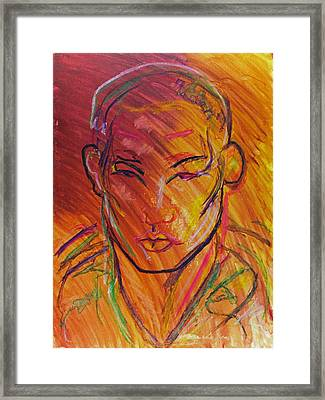 Young Boxer Framed Print