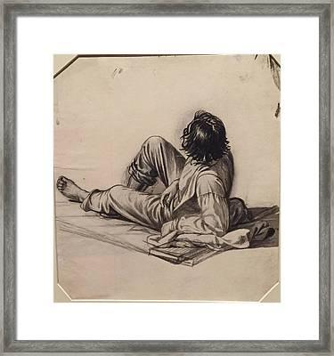 Young Boy Drawinggeorge Caleb Bingham Framed Print