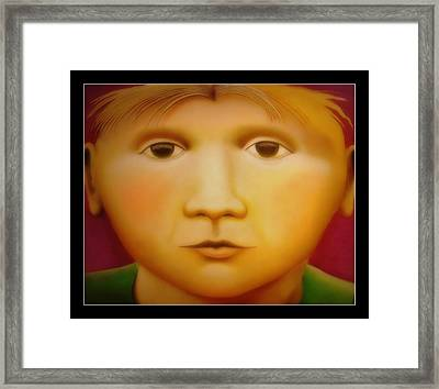 Young Boy - In Large Scale Framed Print by Chris Boone