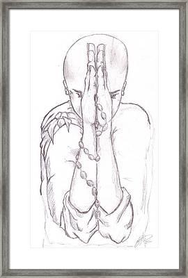 Young Buddha Framed Print by RJ Roskom