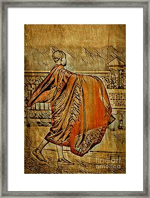Young Buddhist Monk Framed Print